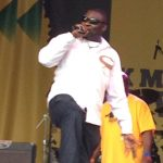 Compering The Leeds Reggae Festival